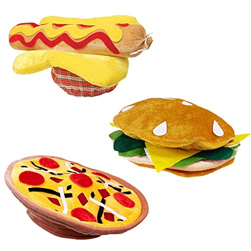 (Funny Party Hats Food Hats - Cheeseburger Hat - Grill Theme Hats)