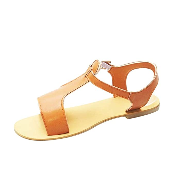 POLP Sandalias cuña Mujer Verano 2018 Chanclas Flip Flop Planas Mujer Sandalias Bohemias Plataforma Cuña Tacon Verano Zapatos Marrón Sandalias para Mujer ...