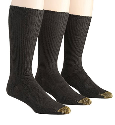 Gold Toe Fluffies 1x1 Rib Crew Socks - 3 Pack (523S) O/S/Brown