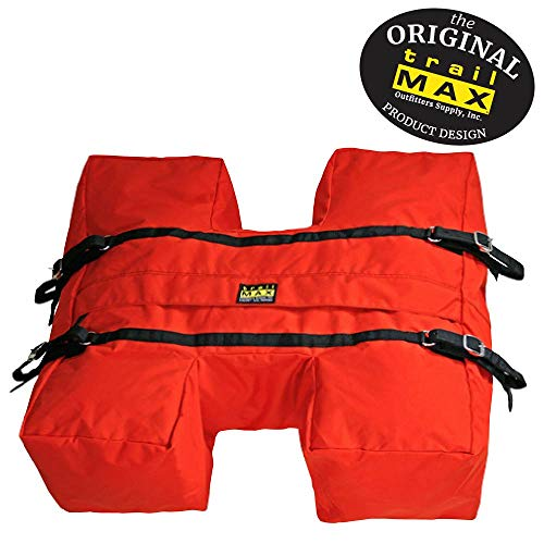 Photo TrailMax Top-Pack for Sawbuck Or Decker Pack Saddle, Horse and Mule Packing H-Style, High Volume Pack Bag Featuring PCV Coated Poly Shell for Resistance from The Elements, Orange