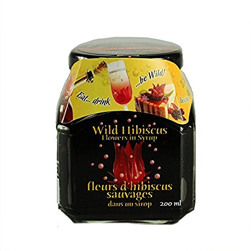 Wild Hibiscus Flowers in Syrup - 200 grams (7 ounces) -