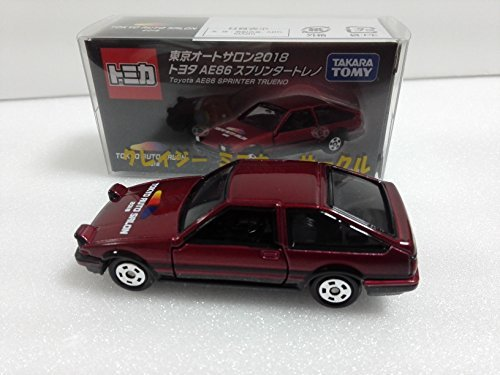 Amazon.com: Japan Import 2018 Tokyo Auto Salon Commemorative Tomica Toyota AE86 Sprinter Trueno crazy minicar with Circle case: Toys & Games