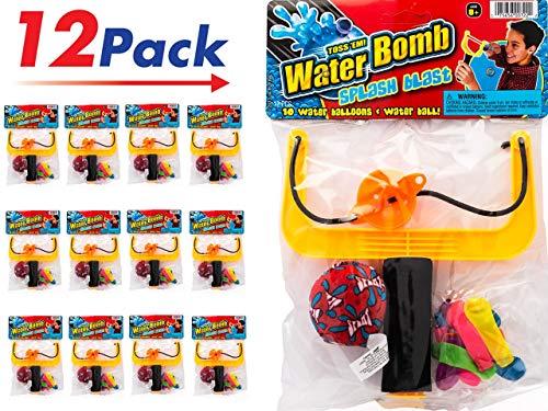 Slingshot Water Balloons Splash Ball Kit. (Pack of 12 Sets) by 2CHILL | Item ()