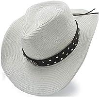 f2d495473 GERUIQI Classic Cowboy Hat Sun Hat Raffia Hat Summer Women's Casual ...