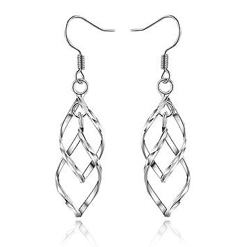 Knoten Ohrringe Silber Versilbert Mädchen Damen-Schmuck Geschenk zu Weihnachten