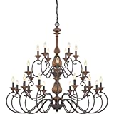 Cheap Quoizel ABN5024RK  Auburn 24-Light Foyer Piece, Rustic Black