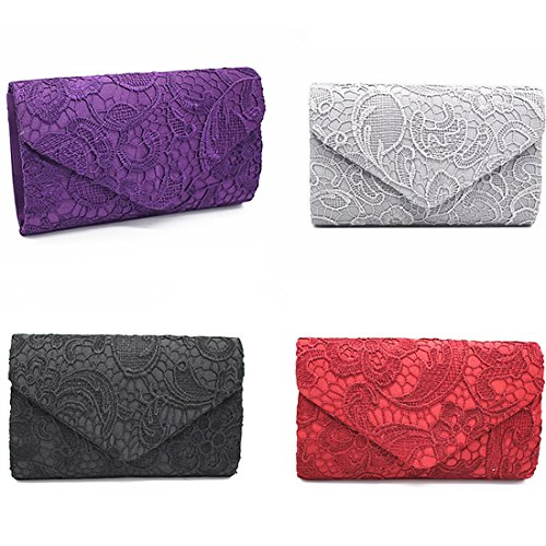 Clutch Clutch Handbags Envelope Parties Floral For Purses Womens Wedding And Occasions Lace Apricot Elegant H0xEqCwnIR
