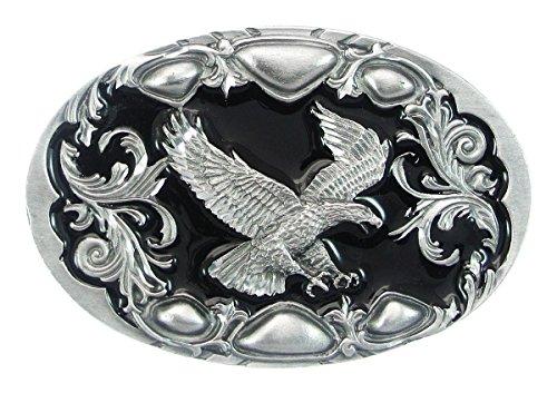 Pewter Belt Buckle - Flying Eagle (Diamond Cut)