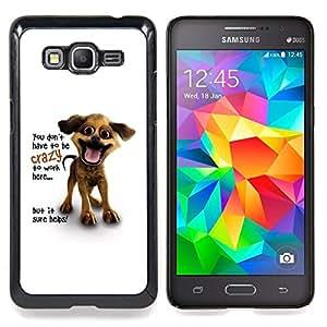 """A-type Arte & diseño plástico duro Fundas Cover Cubre Hard Case Cover para Samsung Galaxy Grand Prime SM-G530F G530FZ G530Y G530H G530FZ/DS (Gato negro y blanco de la nariz del bigote"""")"""