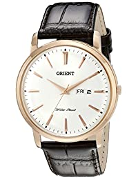 Orient Men's FUG1R005W0 Capital Analog-Display Japanese Quartz Brown Watch