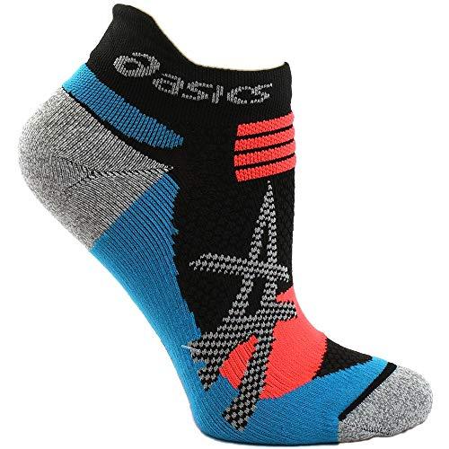 ASICS Mens Kayano Single Tab Running Athletic Socks Socks Black;Blue M