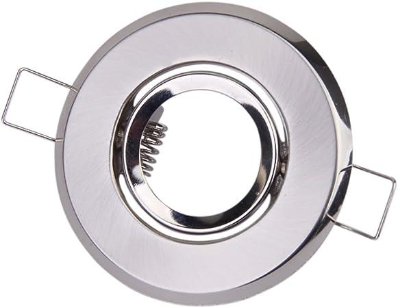 Chrome color 2 pcs Spotlight Mounting Bracket For Recess LED or Halogen MR11 ceiling fixture