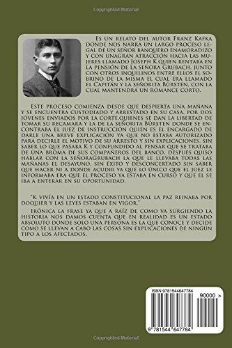 El Proceso Spanish Edition Franz Kafka 9781544647784