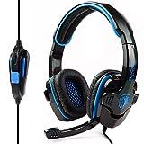 Cheap SADES SA-708 Professional 3.5mm Stereo Headset Headband PC Notebook Pro Gaming Headphone – Black/Blue