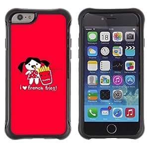 iKiki Tech / Estuche rígido - Love Funny Junk Food Cartoon Red Heart - Apple iPhone 6 PLUS 5.5