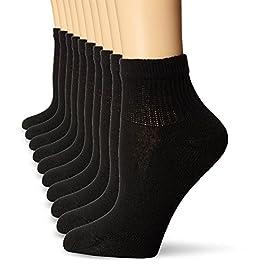 Hanes Women's Plush Soft Cushioned Heel Athletic Ankle Socks