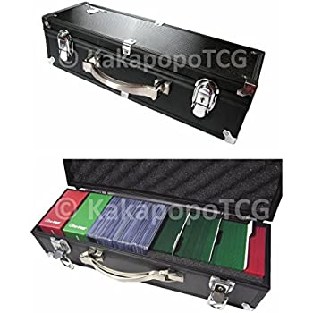 B3 Black Lockable Metal Storage Carry Case KakapopoTCG Deck Box Toploader Trading Cards TCG Deck Protector Sleeve MTG Magic the Gathering YGO Yugioh Pokemon Arkham Horror LCG Against Humanity C. A. H.