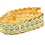Skyjewelry Wrist Chain 24k Gold Plated Noble Men's Women's Bracelets New Design