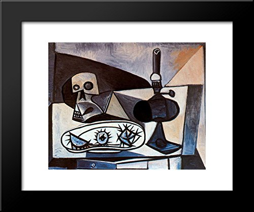 Skull, urchins and lamp on a table 20x24 Framed Art Print by Picasso, Pablo (Pablo Table Lamp)