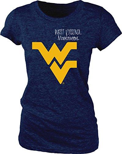 NCAA West Virginia Mountaineers Women's Tri-Blend Tee, X-Large, Navy
