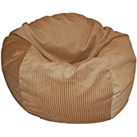 Ahh! Products Wide Corduroy Golden Tan Washable Bean Bag Chair, Large