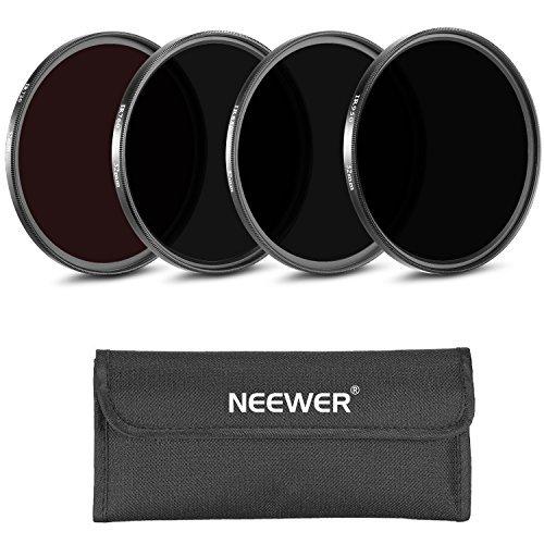 Neewer® 4 Stück 58MM Infrarot Röntgen IR Filter Set: IR720, IR760, IR850, IR950 mit Filter Tragetasche für CANON EOS REBEL 700D 650D 600D 550D 500D 450D 400D (T5i T4i T3i T2i T1i XSi XTi)