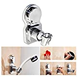 OFKP Reusable Adjustable Shower Head Clip, Showerhead Mount Wall Holder Suction Cup Shower Bracket for Bathroom Accessories