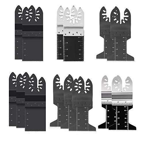 (Aolvo Oscillating Saw Blades 20 Pcs Metal Wood Multitool Quick Release Saw Blades Fit Fein Multimaster Porter Cable Black & Decker Bosch Dremel Craftsman Ridgid Dewalt Rockwell Chicago Stainley)