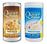 Quest Nutrition Quest Protein bxiiHf Powder, Peanut Butter/Vanilla Milkshake 2lb Tub (1 of Each)