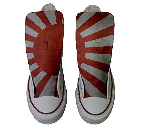 Converse All Star Customized - zapatos personalizados (Producto Artesano) con la bandera japonesa