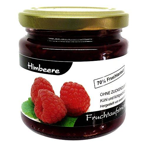 """Xylit Fruchtaufstrich""""Himbeere"""" ohne Zuckerzusatz, nur mit Xylit gesüßt, 70% Fruchtanteil (mehr als Marmeladen), Low Carb, 200 g"""