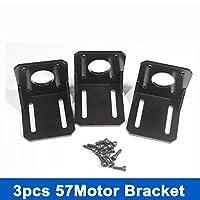 Alloy Steel Mounting Bracket for Nema 23 Stepper Motor (Geared Stepper) Hobby CNC/3D Printer w/ 3set Screws