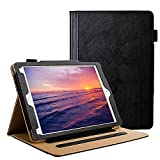 New iPad Leather Case 9.7 Inch 2017 2018 - [State Of The Art] [Corner Protection] [Auto Wake/Sleep] Multi-Angle Viewing Folio Stand Cover Case also for Apple iPad Pro 9.7 air 1 2 - Black