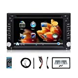 2017 Latest upgrade version 6.2-inch Double DIN Gps Navigation for Universal Car Free Backup Camera