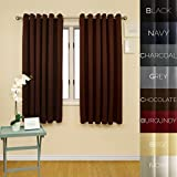 Prestige Home Fashion Wide Width Thermal Insulated Blackout Curtain – Antique Bronze Grommet Top – Chocolate – 80″W x 63″L, 1 Panel