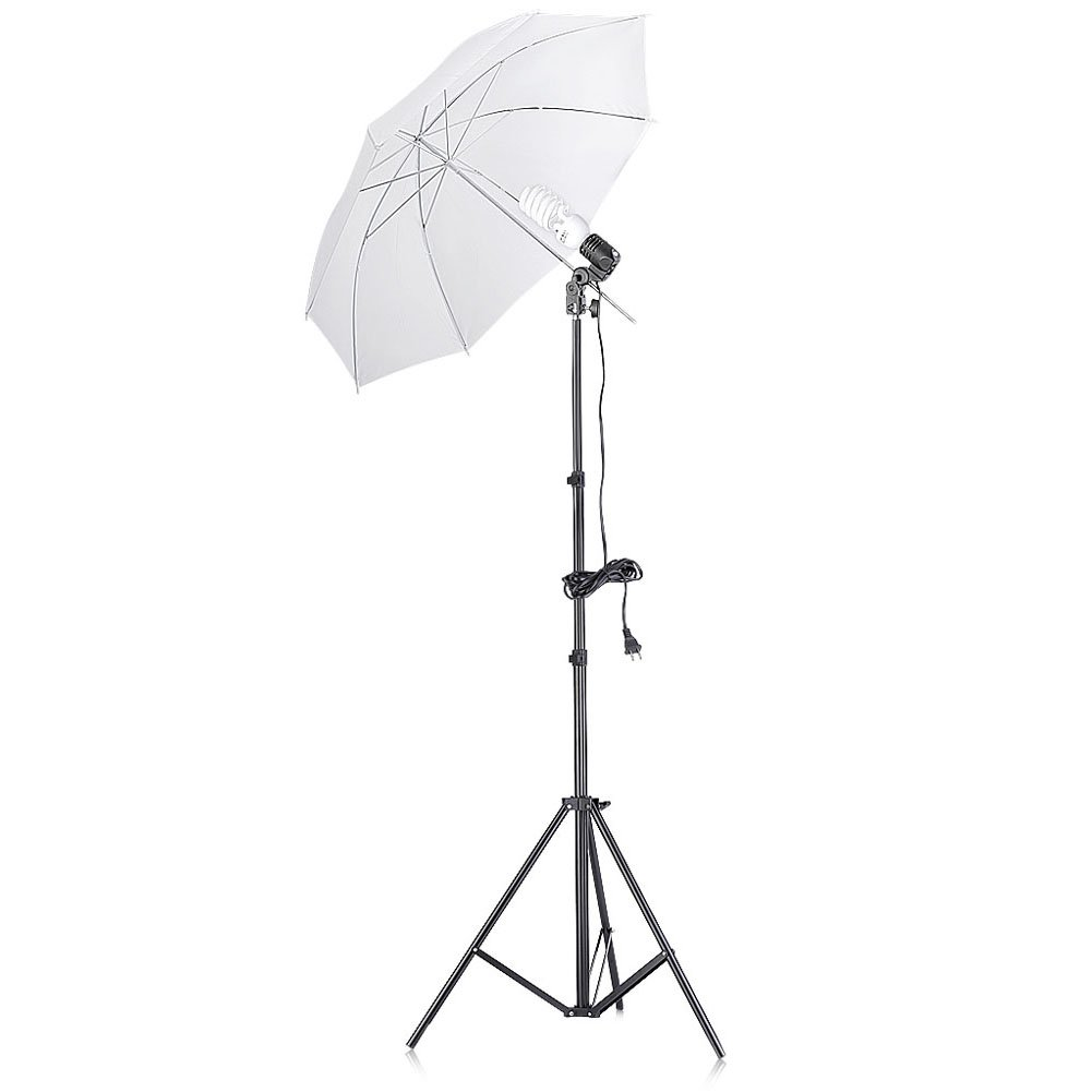 Neewer 200W 5500K Continuous Lighting Umbrella Kit for Photo Studio Video Shooting,includes:(1)74.8''/190cm Light Stand+(1)Single Head Light Holder+(1)45W Daylight Bulb +(1)33''/84cm White Umbrella by Neewer