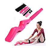 Foot Stretcher for Ballet and Gymnastics,Deep Tissue Massage Roller Foot Massager Trigger Point Therapy Arch Foot Stretcher for dancers Adult and Kids (Magenta)