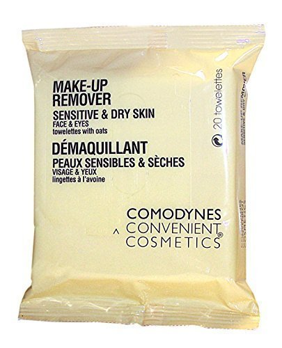 Comodynes Skin Makeup Remover - Comodynes Makeup Removers Toweletts for Face and Eyes with Oats for Dry Skin. 3 -20 towels packs