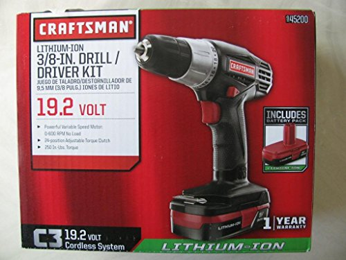 033287165179 - Craftsman C3 19.2-volt 3/8-in. Lithium-ion Drill/driver Kit carousel main 0