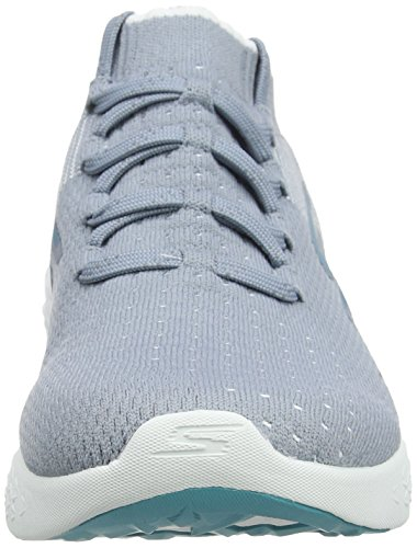 Grigio 6 Donna Sportive Run Skechers Go White Grey Scarpe Indoor wBq044FP7x