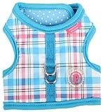 Pinkaholic New York Kayla Pinka Harness for Dogs, Blue, Large, My Pet Supplies