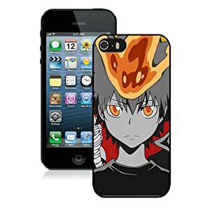 Hot Sale iPhone 5 5S Screen Case ,Anime Katekyo Hitman Reborn Ghost Boy Crowd Background Black iPhone 5 5S Cover Unique And Popular Designed Phone Case