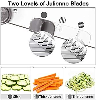 Mandoline Slicer Manual Vegetable CutterAdjustable Blades Professional Grater