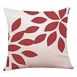 Pillowcase, Zulmaliu Lattice Pillow Cases Geometric Embroidered 18 X 18 Inches (Color D)