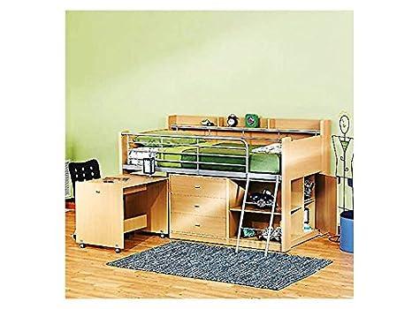 Attractive Amazon.com: Rack Furniture Charleston Loft Bed,Natural Beech: Kitchen U0026  Dining