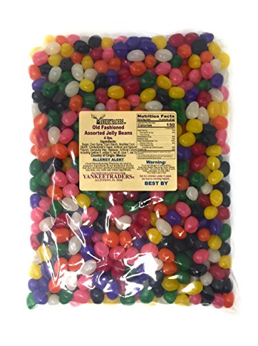 YANKEETRADERS OLD FASHIONED JELLY BEANS, 4 Pound Assortment,