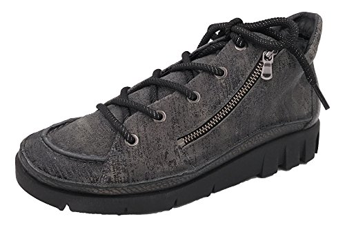 Softwaves Damen Sneaker Grau Schnürschuh 73203