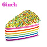 WATINC 1 pcs 6 inch Jumbo Kawaii Cake Toys Squishy Cream Scented Slow Rising Squishies Charms, Lovely Toy Stress Relief Toy , Decorations Toy Gift Fun Large (Rainbow Cake)