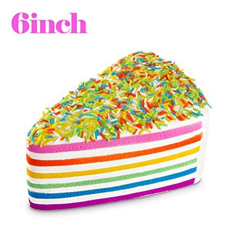 Watinc 1 Pcs 6 Inch Jumbo Kawaii Cake Toys Squishy Cream Scented Slow Rising Squishies Charms, Lovel