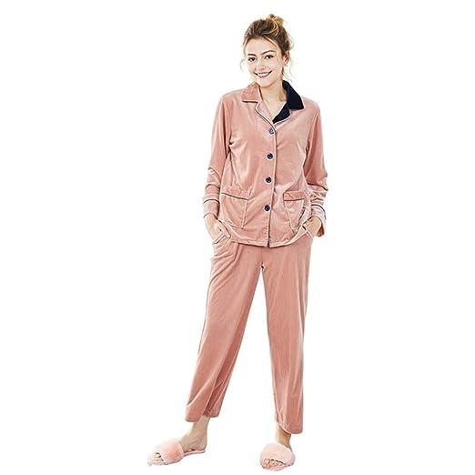Goodsv Mujer De Terciopelo Pijama Traje Pantalón De Manga ...